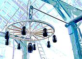 wagon wheel chandelier illustration