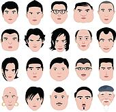 Man face shape hairstyle round fat