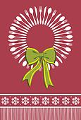 Cutlery wreath christmas background