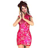 young woman with Chinese dress