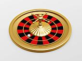 Roulette wheel of casino
