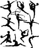 rhythmic gymnastic silhouettes