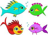 Mix of Colorful Sweet Fish