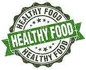 Healthy food green grunge retro vintage isolated seal