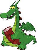 dragon with sausage