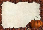 halloween autumn frame border with