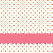 Pink flower polka dot seamless pattern