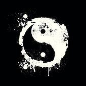 grungy yin yang
