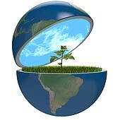 Plant inside planet