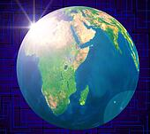 Planets Global Indicates Solar System And Worldwide