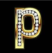 p lowercase bling