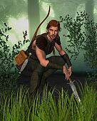 Forest Hunter in Woodland