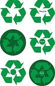 Recycling symbols