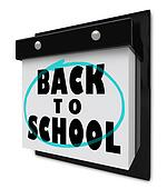 Back to School - Wall Calendar Reminder Classes Starting