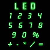 Led numbers green