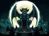 Halloween Gargoyle Illustration - D
