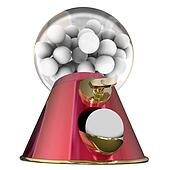 Sugar Gum Balls Candy Dispenser Bubblegum Tooth Decay
