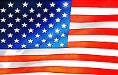 Plastic American flag background