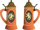 Ancient beer mugs