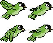 Pixel Bird Sprite
