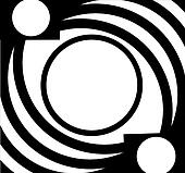 Black white oval pattern frame