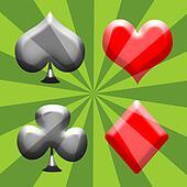Spade, Heart, Club and Diamond