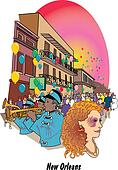 New Orleans Louisiana Mardi Gras