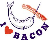 narwhal whale i love bacon