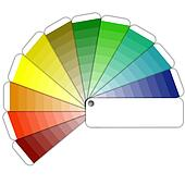color guide with shades