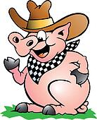 Pig Chef that Welcomes