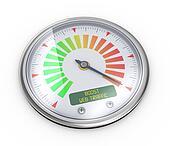 3d boose web traffic meter guage