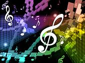Music Background Means Musical Piece And Harmony