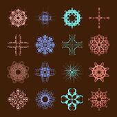 Various Colors of Art Nouveau Style Symbol Sets. Original Patter