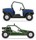 atv car buggy off roads illustration