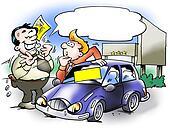 Car salesman who convinces a customer