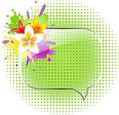Glass Speech Bubbles With Plumeria