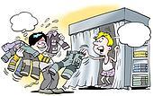 Mechanic in wardrobe