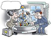 Mechanic with new revolutionary tool