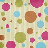 circles on striped background
