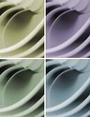 Blur waves abstract background