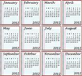 2012 Calendar on Spiral Bound Notebooks