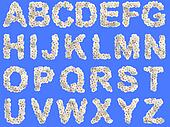 Camomile flower alphabet