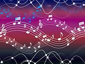 Music Background Shows Musical Song And Harmony