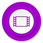 movie icon, violet button