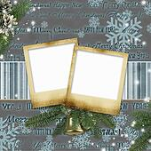 Frameworks for photos on a Christmas background