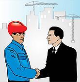 Handshake is a businessman and a bu