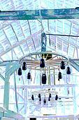 twin chandeliers