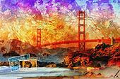 San Francisco bridge, beautiful col
