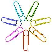 Colored clip set