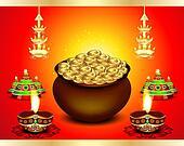 diwali Festival Background  with money